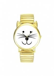 Zegarek Kotek Złoty