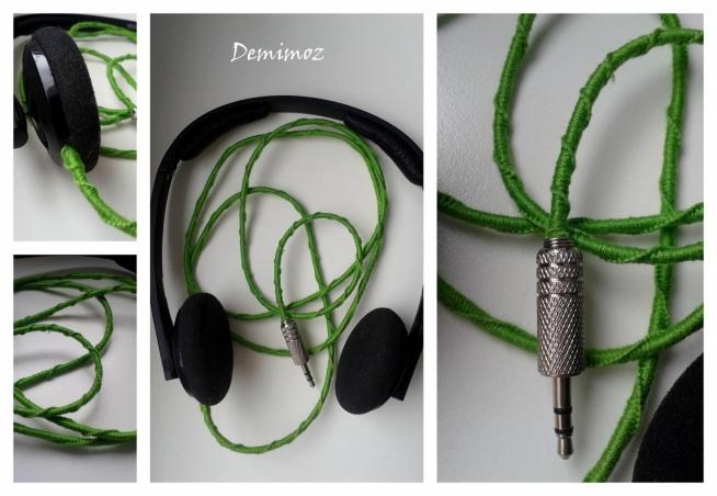 Słuchawki oplecione muliną :P fb po kliknięciu na zdjęcie