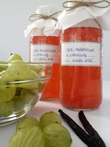 sok agrestowy z wanilią