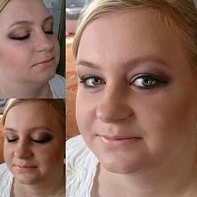 Jeszcze jednen makijaż w brązach i złocie ;)