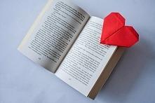 Śliczna zakładka do książek w kształcie serca. Dział DIY. Link do bloga w pro...
