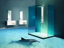 Łazienka z podłogą 3D.