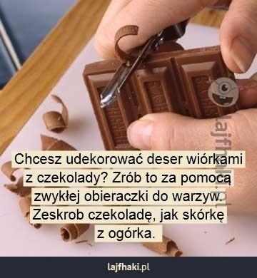Jak zrobić wiórki czekoladowe?