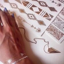 Złote tatuaże <3...więcej na moim instagramie :) zapraszam