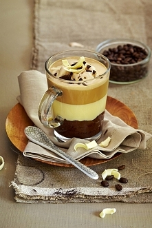 kawowo-beżowo kawa czekolada i lody toffi