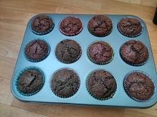 Muffinki mocno czekoladowe :)