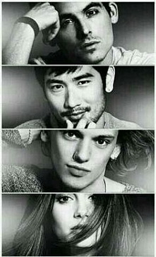 Alec, Magnus, Jace, Clary