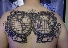 tatuaże na plecach świat