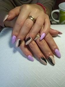 Przedłużone paznokcie P.Wioli :)