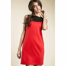 Czerwona sukiena na co dzień S25