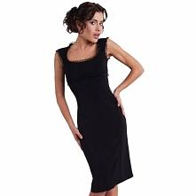 Czarna sukienka koktajlowa KM13