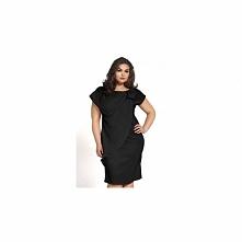 Czarna sukienka satynowa KM04PS