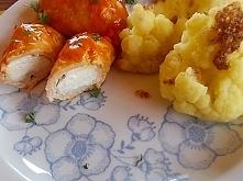 Filet z piersi kurczaka i feta w sosie pomidorowym.Szybko, smacznie i.....