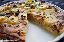 Wiejskie Quiche Składniki: ciasto 200 g mąki 100 g miękkiego masła szczypta s...