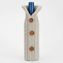 Sweterek na butelke Twojego ulubionego wina:)