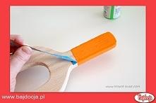 Gdy farba wyschnie, odklej taśmę.