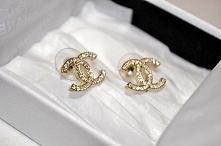 Złote kolczyki Chanel :)