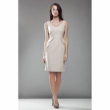 Beżowa sukiena na zimę S22