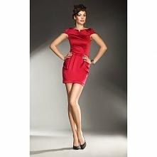 Czerwona sukienka na sylwestra S11