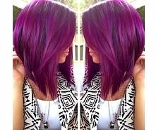 purple lob long bob haircut