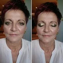 Mama Pana młodego, makijaż w zieleniach z dodatkiem złota :)