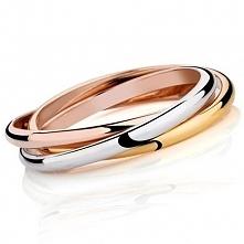 ❤ 20% RABAT na hasło ZSZYWKA20 ❤ trójkolorowy pierścionek TRIPLE składający s...