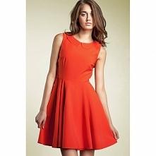 Pomarańczowa sukienka rozkloszowana S26