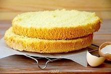 BISZKOPT  Składniki: 5 jajek 1 szklanka cukru 1,5 szklanki mąki 1,5 łyżeczki ...