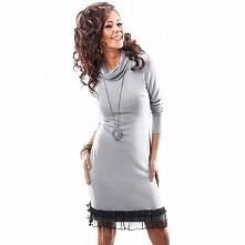 Dzianinowa sukienka na zimę 18010