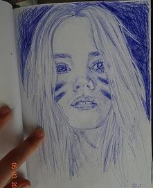 moj szybki portret dlugopisem ;)