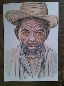 moj portret . format A3 , na zdjeciu wyszlo troche ciemniej i bardziej blado,...