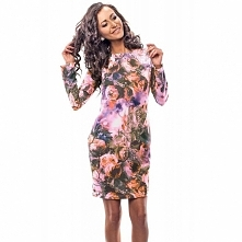Sukienka z nadrukiem w kwiaty 18001