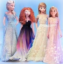 Elsa, Merida, Anna i Roszpunka