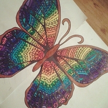 Motyl mojego autorstwa :p Tym razem był prezentem.