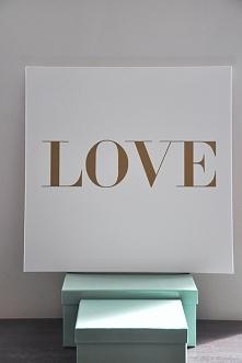 obraz LOVE IN VOGUE 50/50 cm