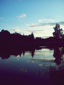 jezioro wieczorem ♥ kocham!