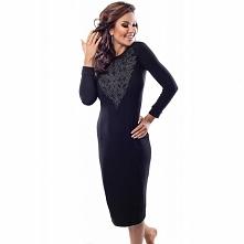 Czarna sukienka wieczorowa 18030