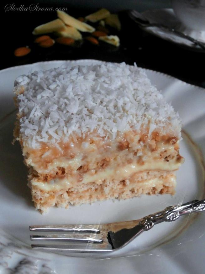 """Kokosowe Ciasto """"Rafaello"""" Bez Pieczenia"""