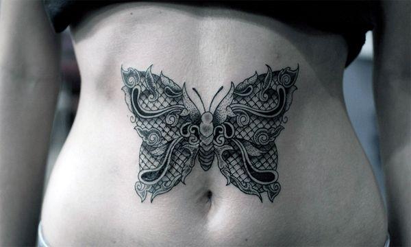 Tatuaże Dla Dziewczyn Motyl Na Brzuchu Na Tatuaże Zszywkapl