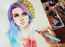 Rysunki/portrety/akwarele na zamówienie: lady2art@gmail.com Zapraszam:)