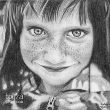 Portret dziewczynki wykonan...