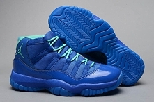 Air Jordan Retro 11 XI Blue and Green Color Mens Sports Shoe Discount