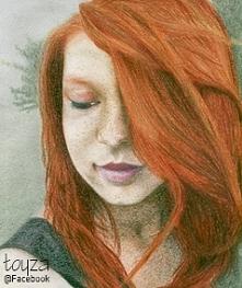 Portret rudowłosej dziewczy...