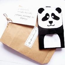 Zrobione przeze mnie pandastyczne filcowe etui na telefon.