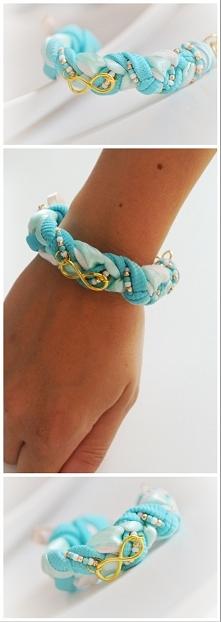 mietowa bransoletka idealna na lato, dostępna od ręki. bransoletka typu warko...