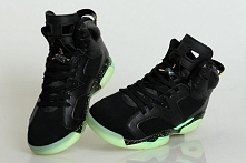 """Female Style Nike Jordan """"World Cup"""" Air Michael 6 Glow in the D"""