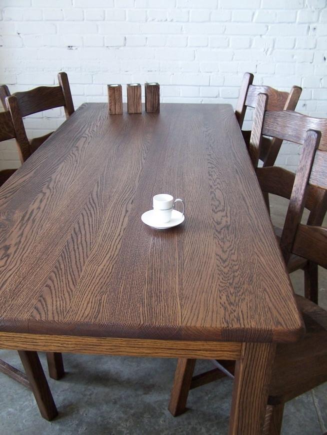 Stół Dębowy Z Krzesłamipo Odświeżeniu Na Meble Zszywkapl