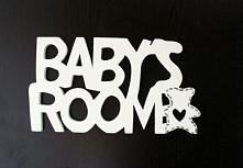drewniany napis do pokoju dziecka