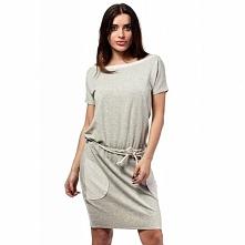 MOE168 sukienka szara