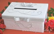 pudełko na koperty ślubne i telegramy